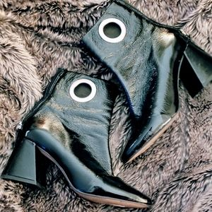 Funky patent Top Shop ankle boots